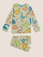 Çocuk Multi Renk Dinozor Desenli Pijama Takımı (1-7 yaş)