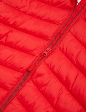 Erkek Çocuk Kırmızı Stormwear™ Kapüşonlu Şişme Mont (6-16 Yaş)