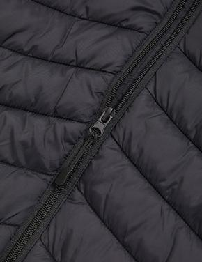 Erkek Çocuk Siyah Stormwear™ Kapüşonlu Şişme Mont (6-16 Yaş)