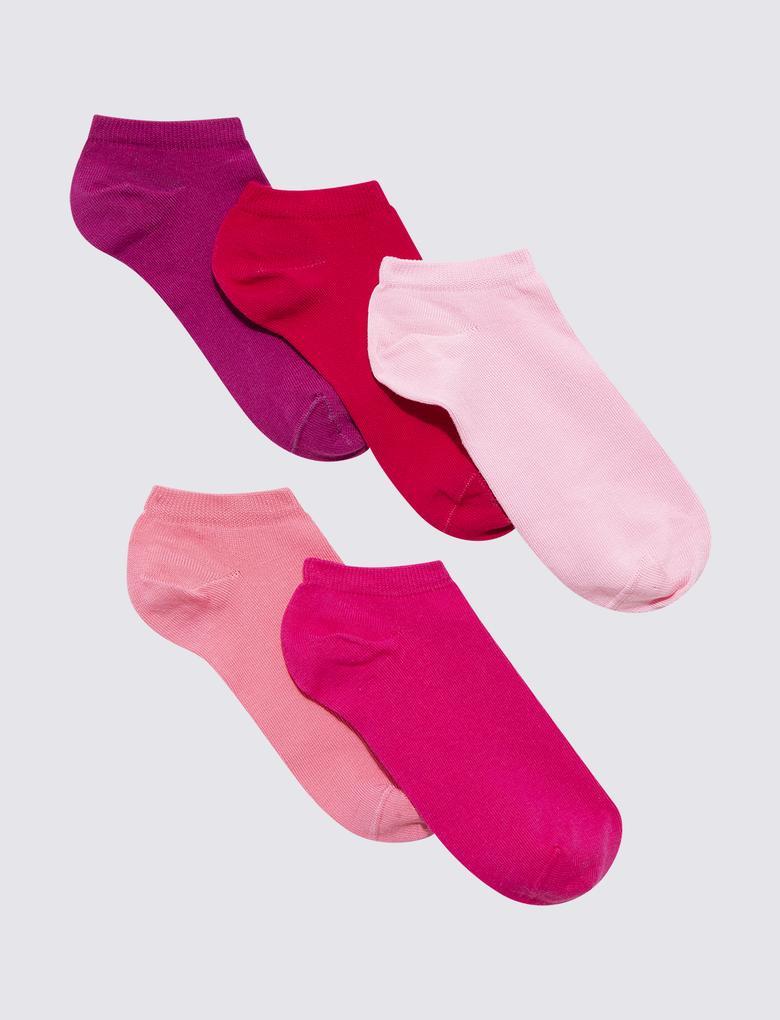 Kadın Pembe Trainer Çorap