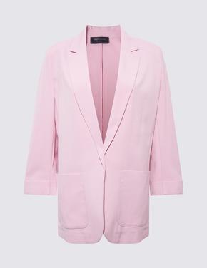 Kadın Pembe Relaxed Fit Blazer Ceket