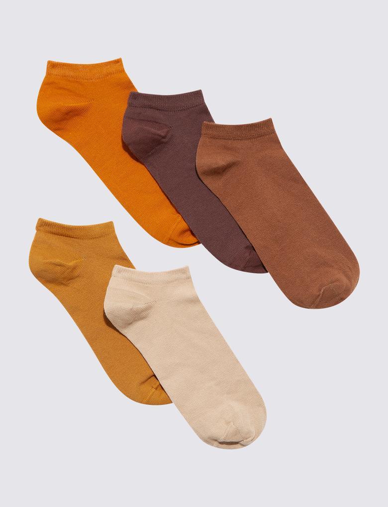 Kadın Kahverengi Trainer Çorap