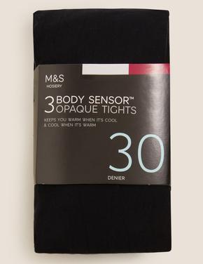 Kadın Siyah 3'lü 30 Denye Body Sensor™ Külotlu Çorap