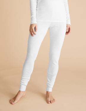 Kadın Beyaz Termal Legging Tayt