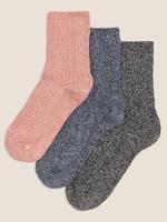 Kadın Pembe 3'lü Sumptuously Soft™ Termal Çorap Seti