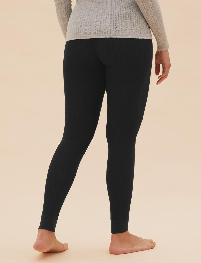 Kadın Siyah Termal Legging Tayt