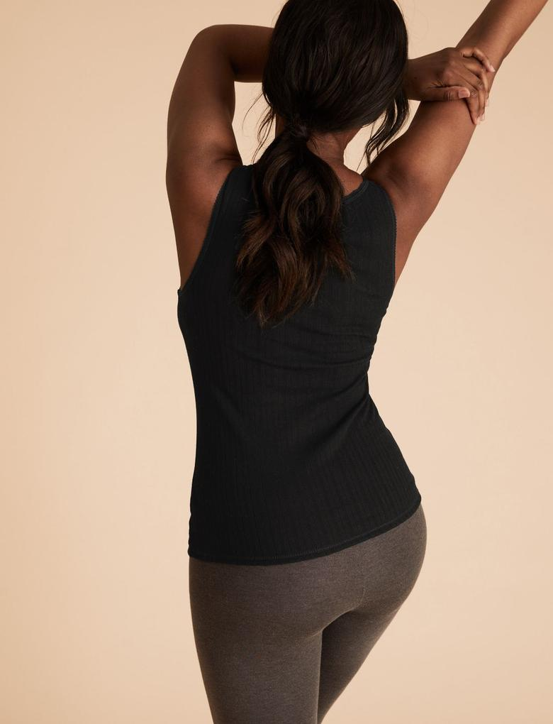 Kadın Siyah 2'li Termal Atlet