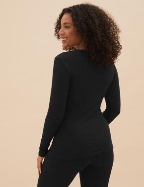 Kadın Siyah 2'li Termal Uzun Kollu Bluz
