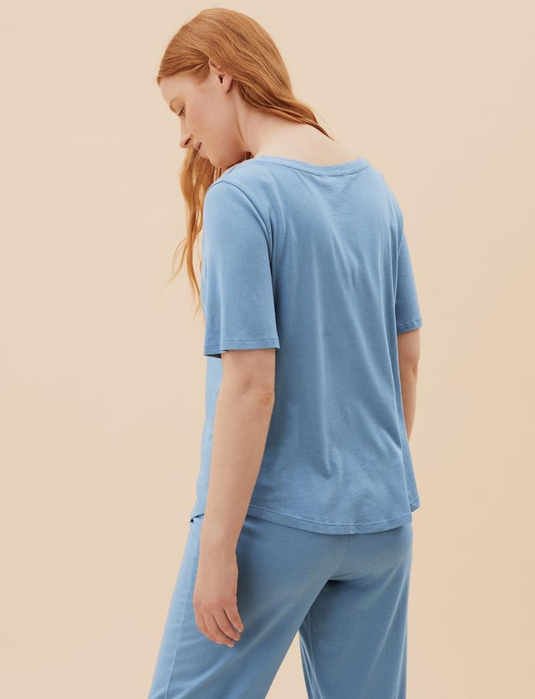 Kadın Mavi 2'li Cool Comfort™ Pijama Üstü