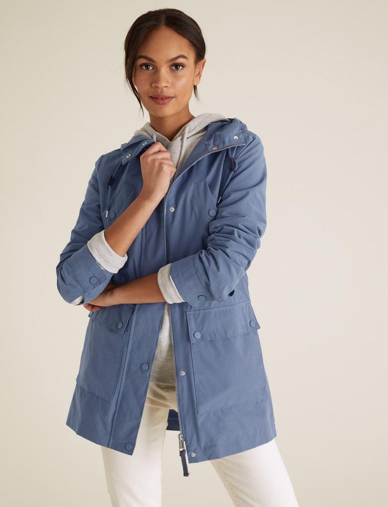 Kadın Mavi Stormwear™ Kapüşonlu Parka