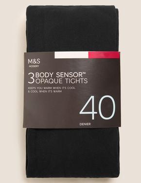 Kadın Siyah 3'lü 40 Denye Body Sensor™ Külotlu Çorap