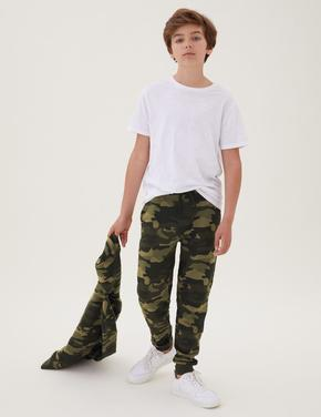Erkek Çocuk Yeşil Kamuflaj Desenli Eşofman Altı (6-16 Yaş)