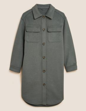 Kadın Yeşil Uzun Kollu Düğmeli Ceket