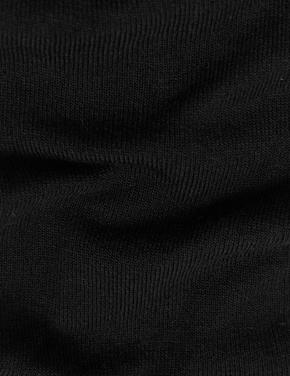 Kadın Siyah 2'li Cashmere Karışımlı Pantolon Çorabı