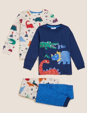 Çocuk Multi Renk Saf Pamuklu 2'li Pijama Takımı (1-7 Yaş)