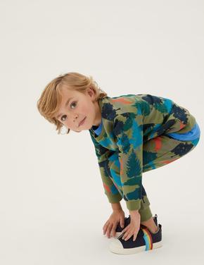 Erkek Çocuk Yeşil Orman Desenli Eşofman Altı (2-7 Yaş)