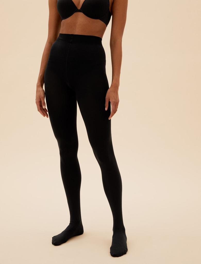 Kadın Siyah 100 Denye Velvet Touch Luxe Külotlu Çorap