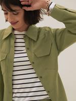 Kadın Yeşil Tencel™ Gömlek Ceket
