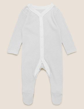 Bebek Gri 3'lü Saf Pamuklu Uyku Tulumu