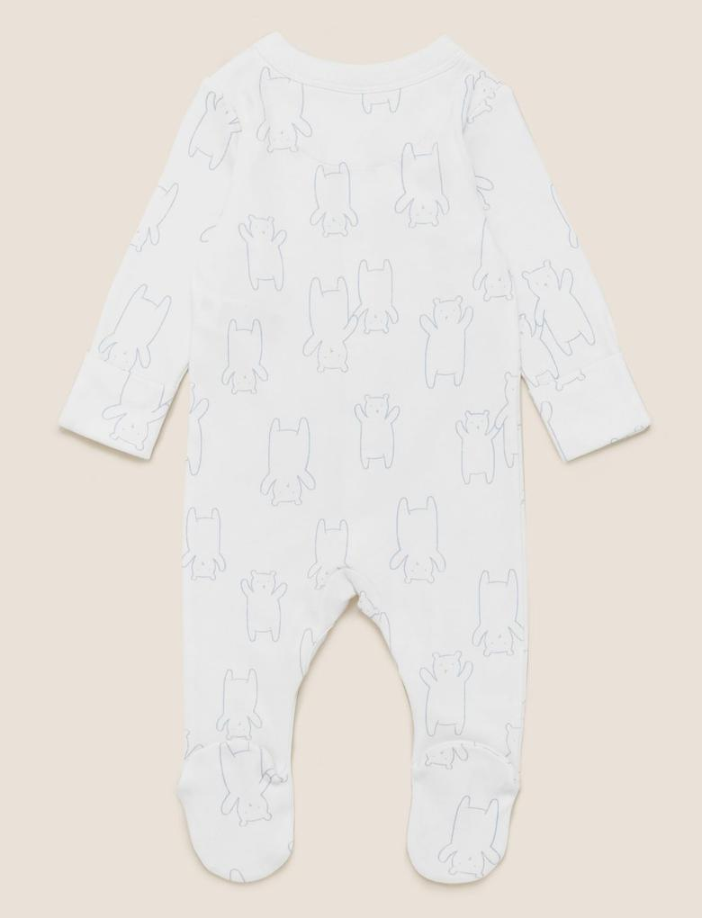 Bebek Mavi 3'lü Saf Pamuklu Uyku Tulumu