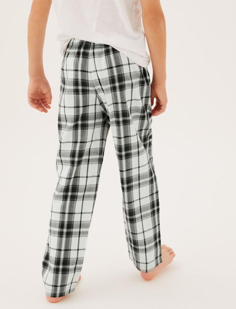 Çocuk Multi Renk 2'li Saf Pamuklu Pijama Altı (6-16 Yaş)