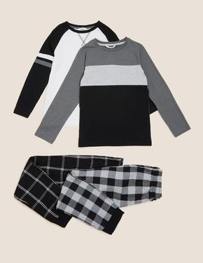 Çocuk Multi Renk 2'li Pijama Takımı(6-16 Yaş)