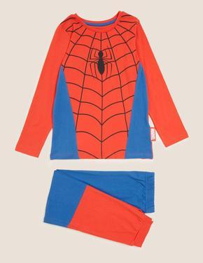 Çocuk Multi Renk Spider-Man™ Saf Pamuklu Pijama Takımı (2-8 Yaş)