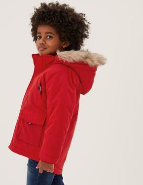 Erkek Çocuk Kırmızı Stormwear™ Kapüşonlu Mont (2-7 Yaş)