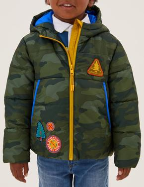Erkek Çocuk Multi Renk Stormwear™ Kamuflaj Desenli Puffer Şişme Mont (2-7 Yaş)