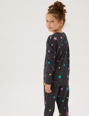 Çocuk Multi Renk 2'li Saf Pamuk Pijama Takımı (6-16 Yaş)