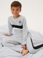 Çocuk Multi Renk 2'li Oyun Desenli Pijama Takımı (6-16 Yaş)