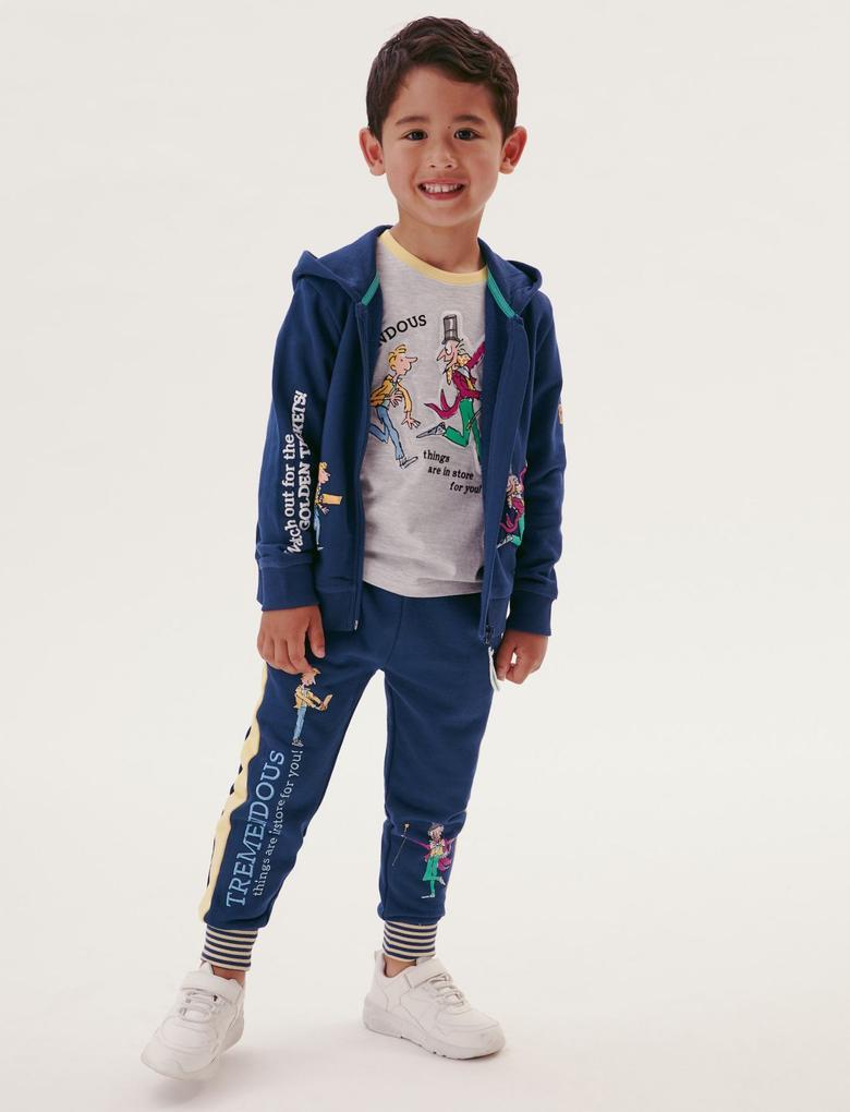Erkek Çocuk Lacivert Roald Dahl™ Eşofman Altı (2-7 Yaş)