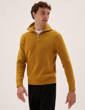 Erkek Sarı Fitilli Kazak
