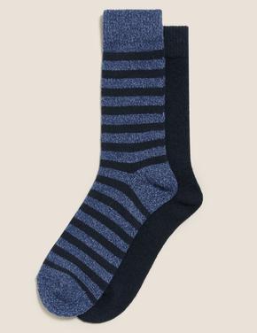 Erkek Mavi 2'li Cosy Çorap Seti