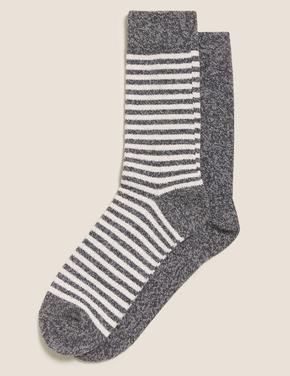 Erkek Gri 2'li Cosy Çorap Seti