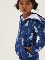 Kız Çocuk Lacivert Disney Frozen™ Kapüşonlu Sweatshirt (2-10 Yaş)