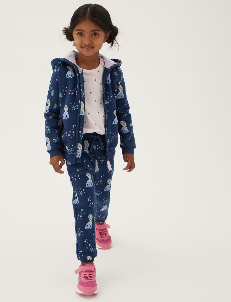 Kız Çocuk Lacivert Disney Frozen™ Eşofman Altı (2-10 Yaş)