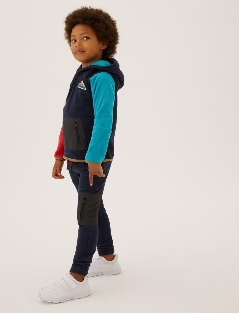 Erkek Çocuk Lacivert Cep Detaylı Polar Eşofman Altı (2-7 Yaş)