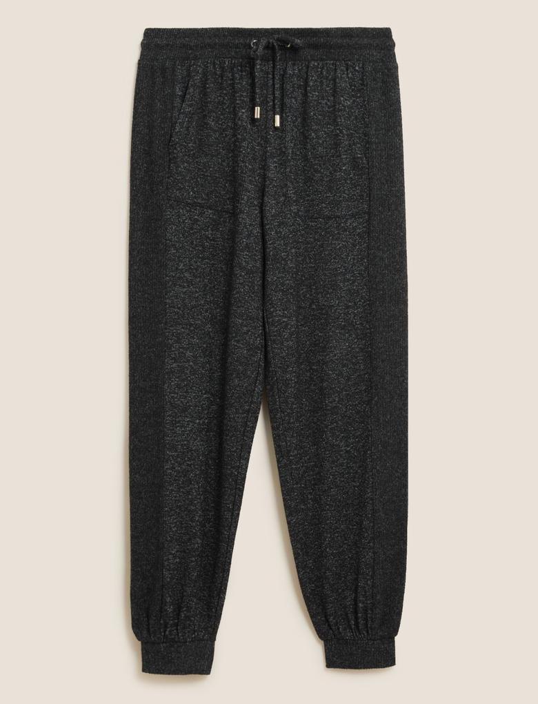 Kadın Siyah Cosy Jogger Pijama Altı