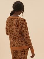Kadın Kahverengi Cosy Triko Pijama Üst