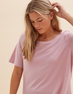 Kadın Pembe 2'li Modal T-Shirt Seti