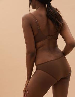 Kadın Kahverengi 5'li Cotton Lycra® Bikini Külot Seti