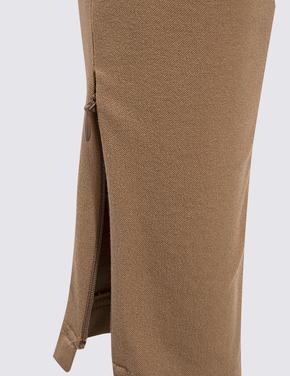 Kadın Bej Skinny Ankle Grazer Pantolon