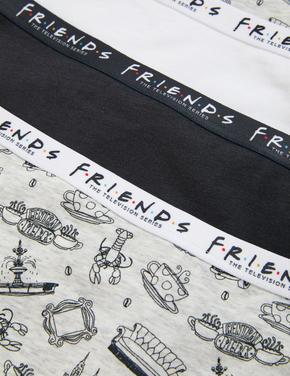 Çocuk Siyah 5'li Friends™ Short Külot (2-16 Yaş)