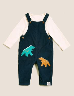 Bebek Lacivert Saf Pamuklu 2'li Takım (0-3 Yaş)