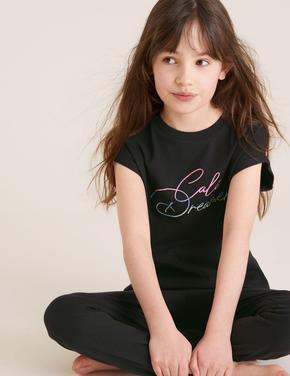 Çocuk Multi Renk 2'li Pamuklu Pijama Takımı (6-16 Yaş)
