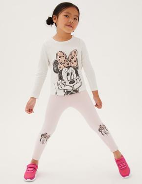 Kız Çocuk Pembe Minnie™ Legging Tayt (2-7 Yaş)
