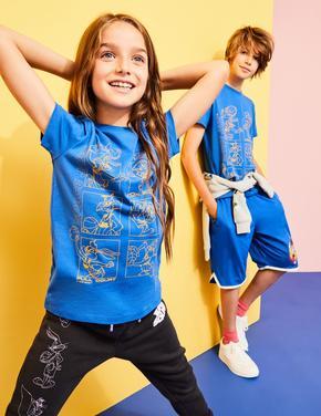 Erkek Çocuk Mavi Space Jam: A New Legacy™ Saf Pamuk T-Shirt (6-16 Yaş)