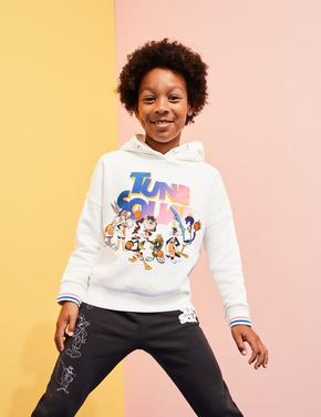 Kız Çocuk Beyaz Space Jam: A New Legacy™ Kapüşonlu Sweatshirt (6-16 Yaş)