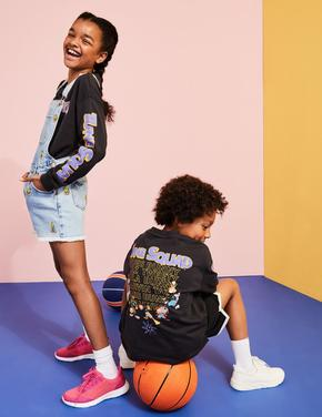 Erkek Çocuk Siyah Space Jam: A New Legacy™ Pamuklu T-Shirt (6-16 Yaş)